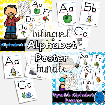 Bilingual Bundle: Alphabet Posters in English and Spanish