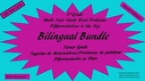 Bilingual Bundle/3rd Grade Math Task Cards/Word Problems