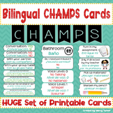 CHAMPS Classroom Management Posters | Bilingual Spanish/English