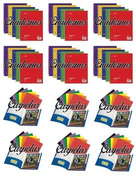 Bilingual Caddy Supplies Labels