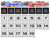 Bilingual Calendar Calendario Bilingüe