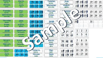 Bilingual Calendar Cards 2017-2018