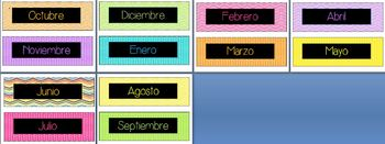 Bilingual Calendar Plates (Spanish/English)