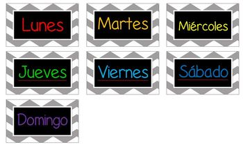Bilingual Calendar Plates (Spanish/English)