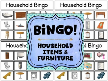 Bilingual Category Bingo: Household Items Flashcards & Games (English & Spanish)