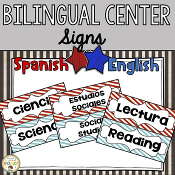 Bilingual Center Signs