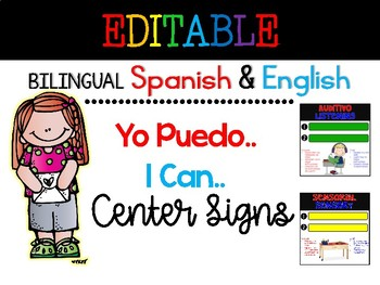 Bilingual Centers I Can posters {English & Spanish}