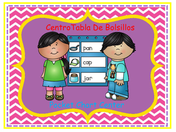 Bilingual Learning Centers Signs - Chevron Theme