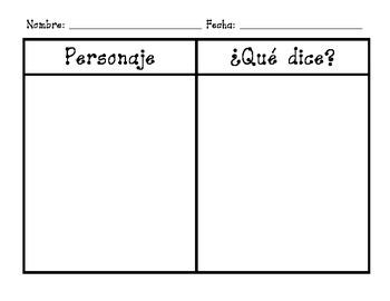 Bilingual Character Analysis Charts