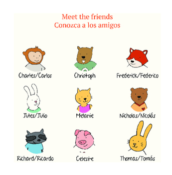 Bilingual Children's Picture Book: Easy Reader Level 1 ( SPANISH ENGLISH )