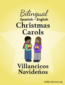 graphic regarding Christmas Carol Songbook Printable identify Bilingual Xmas Carols / Villancicos Navideños ~ Spanish-English Songbook