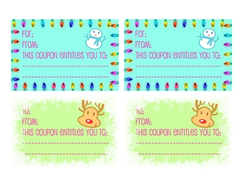 Bilingual Christmas Coupons