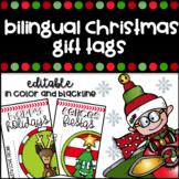Bilingual Christmas Gift Tags Editable - Etiquetas de Navidad