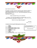 Bilingual Christmas Party Lettter