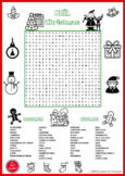 Bilingual Christmas Word Search (English-French).