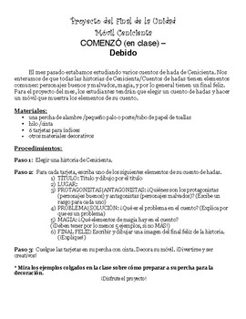 Bilingual Cinderella Mobile Directions