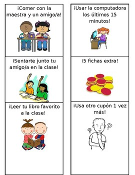 Bilingual Class Coupons in Spanish
