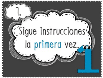 Bilingual Class Rules Posters