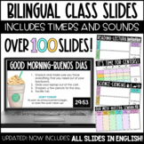Class Slides with Timers - BILINGUAL - Google Slides - Dis