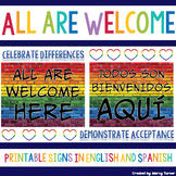 Bilingual Classroom Décor | All Are Welcome Here | Spanish