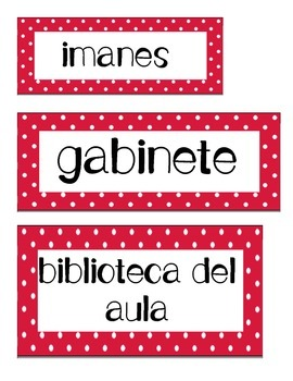 Bilingual Classroom Labels - Spanish