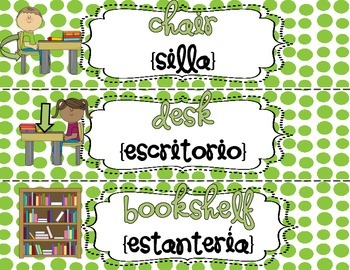 Bilingual Classroom Labels {Spanish & English}