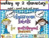 Bilingual Classroom Labels {Spanish & English}