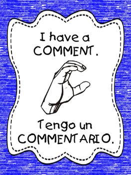 Bilingual Classroom Management Hands Signals