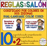 Bilingual Classroom Rules Cards / Tarjetas Bilingües de Reglas del Salón