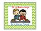 Bilingual Classroom Rules - Chevron Theme (Green)