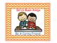 Bilingual Classroom Rules - Chevron Theme (Orange)