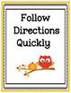 Bilingual Classroom Rules - Owl Themed