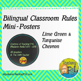 Bilingual Classroom Rules Posters