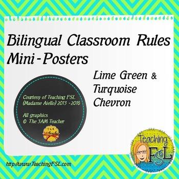 Bilingual Classroom Rules Posters