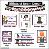 Classroom Decor Bilingual Signs and Posters  BUNDLE