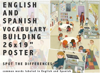 Bilingual Classroom Spot the Differences Poster