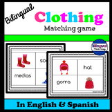 Bilingual Clothing Matching Game in English & Spanish