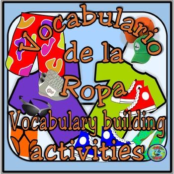 Clothing Vocabulary Thematic Reference / El vocabulario de la ropa