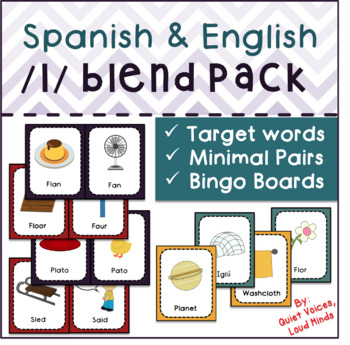 Spanish and English /l/ Blend Pack: Minimal Pairs