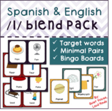 Spanish and English /l/ Blend Pack: Minimal Pairs