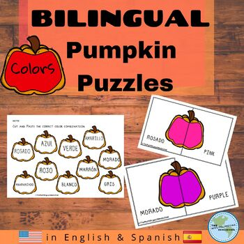 Color Matching & Puzzles in English & Spanish