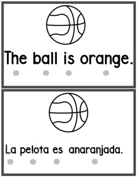 Bilingual Color Orange  Book