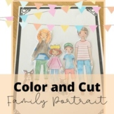 Bilingual Color and Cut Family Portrait, Mother's Day Acti