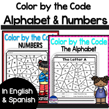 Bilingual Color by Code - Alphabet & Numbers