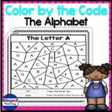 Bilingual Color by Code in English & Spanish - The Alphabet