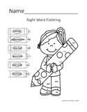 Bilingual Coloring Sight Words Worksheet