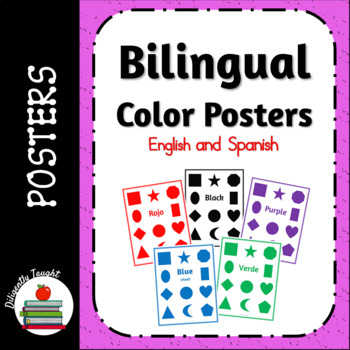 Bilingual Colors Posters - English and Spanish - Fun, Simple, Totschool