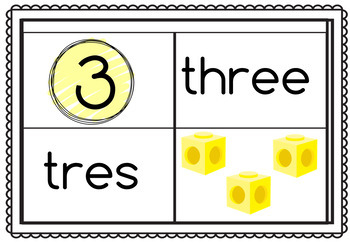Bilingual Colors and Numbers Matching Game Bundle