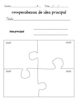 Bilingual Comprehension Strategy: Main Idea/idea principal