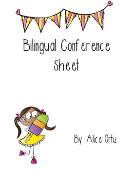 Bilingual Conference Sheet